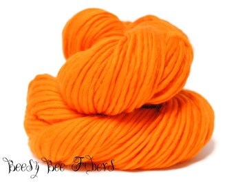 MANDARIN - Super Bulky Yarn Chunky Knitting, Pencil Roving, Chochet, Weaving Merino Yarn - 200 grams skein
