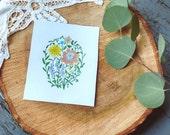 Pattypans- Botanical, Floral Print | 5 x7 | Memoria Arts