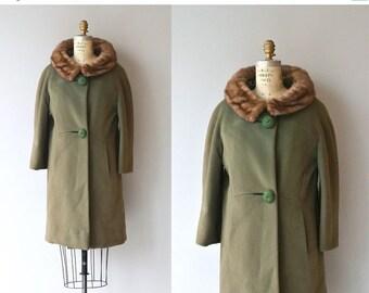 25% OFF.... Lapland Moss coat | vintage 1960s coat | mink collar 60s coat