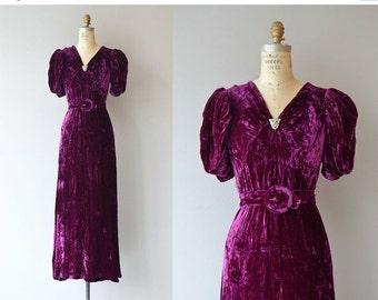 25% OFF.... Intermezzo silk velvet dress   vintage 1930s dress   silk velvet 30s dress