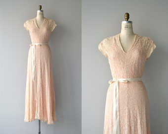Year of Grace dress | vintage 1930s lace dress | long 30s dress