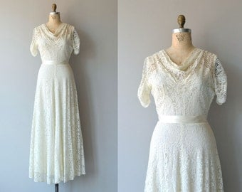 Toi et Moi wedding gown | vintage 1930s wedding dress | lace 30s wedding dress