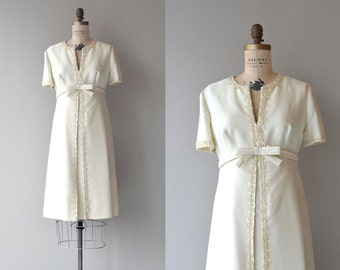 Pavillion dress   vintage 1960s wedding dress   short 60s wedding dress