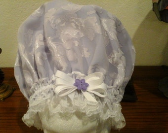 Lavendar Poleyester EX Large with Poleyester Lace Free Shipping