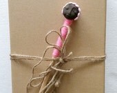 """Doll Pencil Wooden """"Valentine 3"""", Handcrafted Pencil, African Doll Pencil, African Doll"""
