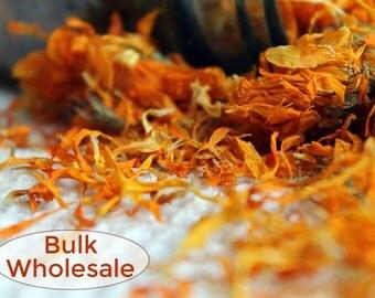 Organic Calendula Petals  3 Pounds - 48 cups- Bulk Organic Dried Herbs. Bulk Loose Calendula. Pot Marigold Petals - Soap, Lotion, Salve
