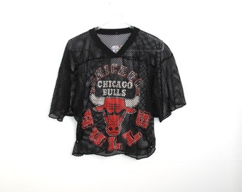 Vintage Chicago Bulls Mesh Cropped Jersey Top