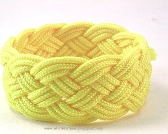 yellow paracord rope bracelet rope jewelry cuff bracelet turks head knot armband sailor rope bracelet 3902