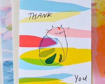 Thank You Cat Card - Kiki Bliss