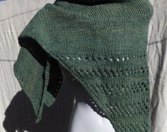 Green Wool Shawl Petite