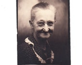 vintage Photo Booth Photo Little Old Lady Older Woman Photobooth 1930s