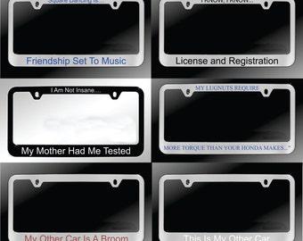 Custom Engraved License Plate Frame