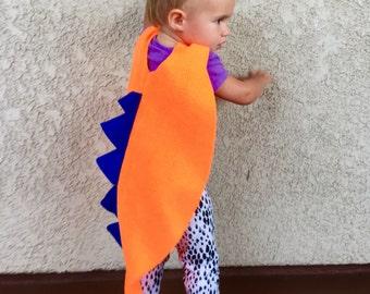 Dinosaur Cape, Kids Halloween Costume, Toddler Costume