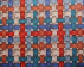 FREE SHIPPING Faux Weave Fabric - Faux Basket Weave Cotton - Fat Quarter
