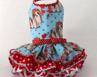 Spring dress for dogs Biwer Yorkie print