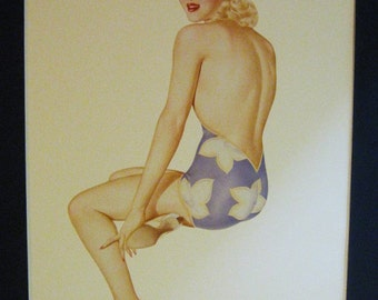 Varga Pinup Girl Print from 1987 Book - Varga The Esquire Years - A Catalogue Raisonne - 7/44
