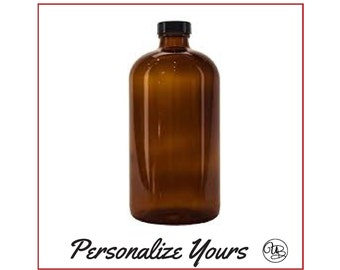Custom Amber Growlette - 32 oz - Personalize Yours