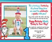 Dr. Seuss Birthday Party Invitation - DIGITAL FILE