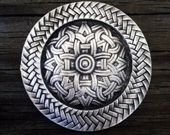 Viking / Celtic Pewter Brooch
