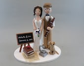 Science Teacher & Basson Player Personalized Wedding Cake Topper - reserved for zenmasterfunk