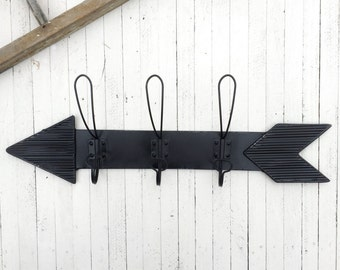 Coat Rack, Arrow Wall Decor, Wall Hooks, Black Wall Hook, Vintage Style Coat Hook, Vintage Wall Hooks,  Wall Hooks
