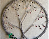 Tree Of Life HUGE with crystal Amber Moon chainmail dreamcatcher Silver Gold Red and Green