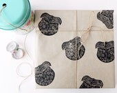 beard gift wrapping - wrapping paper - fathers day wrap - dad birthday wrap - beards - gift wrap
