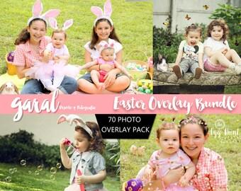 EASTER OVERLAYS, 70 Photoshop Overlays, Photoshop Overlay, Easter, animal overlays, Confetti overlays, glitter overlays, butterflies