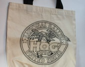 SALE! Vintage Cotton Canvas Tote Bag, HOG National Rallies, 1995, Harley Davidson