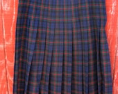 Babs - vintage 60s plaid Pendleton skirt 14