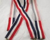 Patriotic braces - vintage 1970s suspenders
