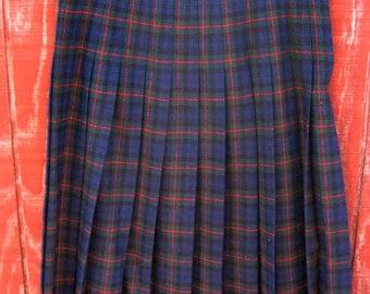 Babs - vintage 60s plaid Pendleton skirt 14