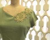 Honey Dew dress   vintage 1950s dress   green 50s dress