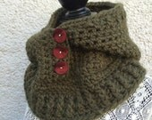 Green Crocheted Hooded Cowl           HC/4/15(a)