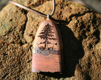 Tree of Life Pendant Necklace in Mountain Mahogany