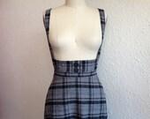 Plaid cotton flannel suspender skirt Sz 0/2/4/6