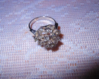 Vintage Rhinestone Dinner Ring Size 5 1/2