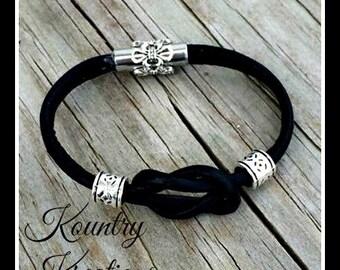 Leather bracelets,Bracelet, Leather Bracelet, Black Leather Bracelet, Custom Jewelry (Ready to Ship)