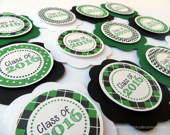Graduation Party Decorations, Graduation Party Decor, Graduation Party CUPCAKE TOPPERS, You Choose The Colors