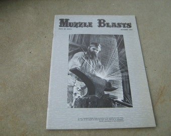 1976 October  Muzzle blasts vintage magazine
