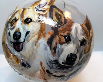 Custom pet ornament, handpainted Christmas ornament, Pet Memorial, Pet Memorial ornament, Custom Christmas ornament, custom dog ornament
