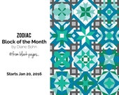 Zodiac BOM - #236 Paper Piecing Pattern