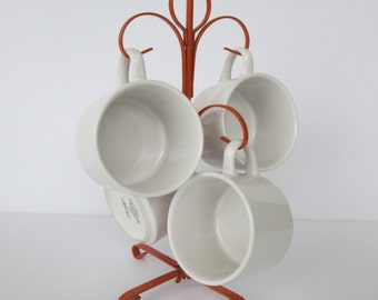 Orange Metal Mug Tree