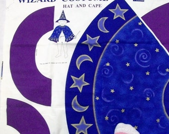 Halloween Costume Panel, Wizard Costume, Childs Halloween Costume, Fabric Panel