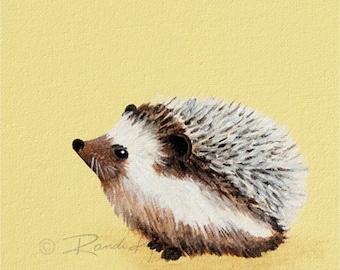 Hedgehog print- Baby art prints - Hedgehog art print - Nursery wall art -Hedgehog Nursery Prints - Woodland Animals Nursery -kids art