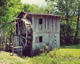 Photograph: Old Wooden Building Nature Photography 8x10 Rural Arkansas