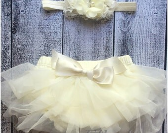 baby headband and bloomer set... Disper cover..bloomer and Shabby Chic Floral Headband...Hairbows...headband and Diaper Cover...custom sizes