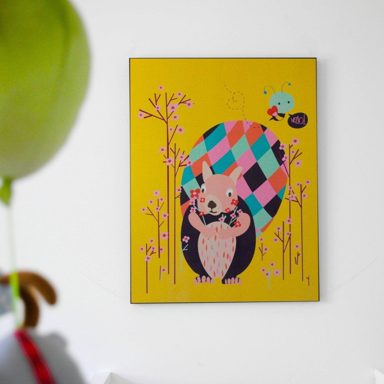 Eekhoorn kwekerij art print oh hello kwekerij van pragyak op etsy