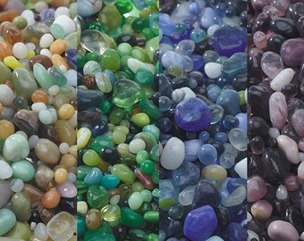 Bulk 1 pound of Tiny glass Polished Pebbles for terrariums-Vivariums-Weddings-Forest Green pebbles