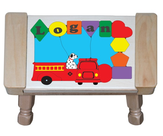 Personalized Name Fire Truck Theme Children By Younameittoys
